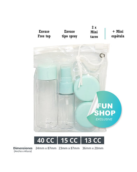 Envase Kit Viajero / Alcohol gel