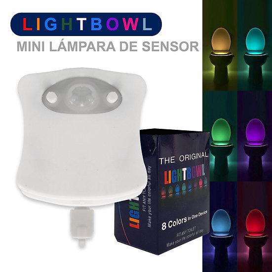 Lámpara de Sensor Para Inodoro / 8 Colores De Luz