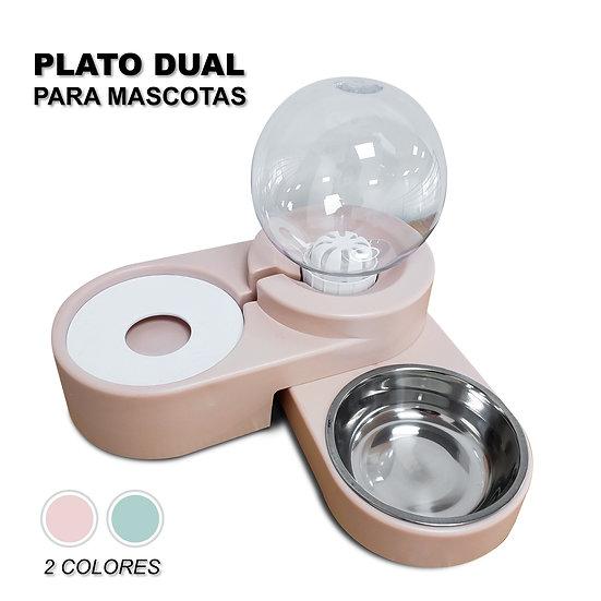 Plato y bebedero para mascotas