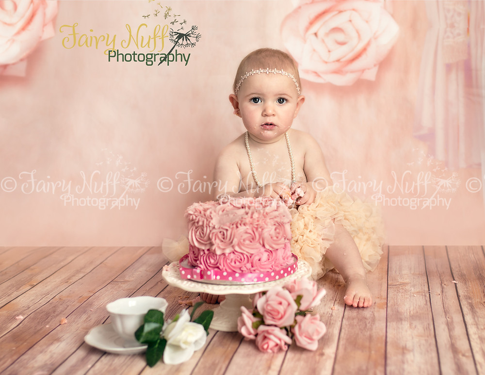 Vintage Tea Theme Cake Smash-Fairy Nuff Photography