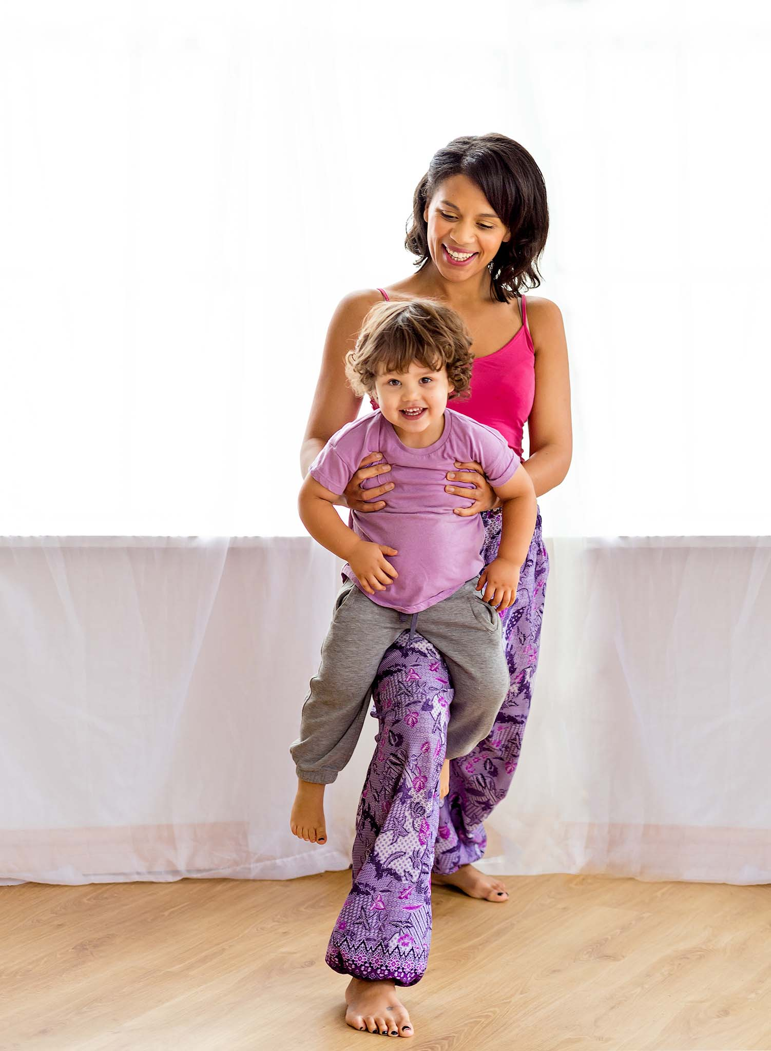 Children yoga instructor business photography