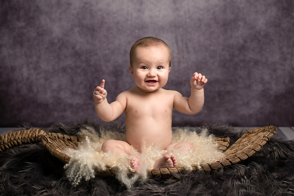 7 month old baby photoshoot.  Fairy Nuff Photography, baby photographer Nottingham