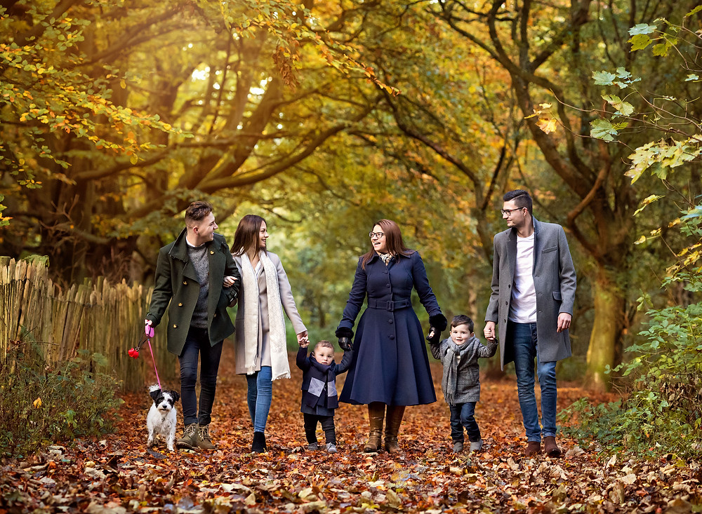 Family outdoor photography with dogs, nottingham