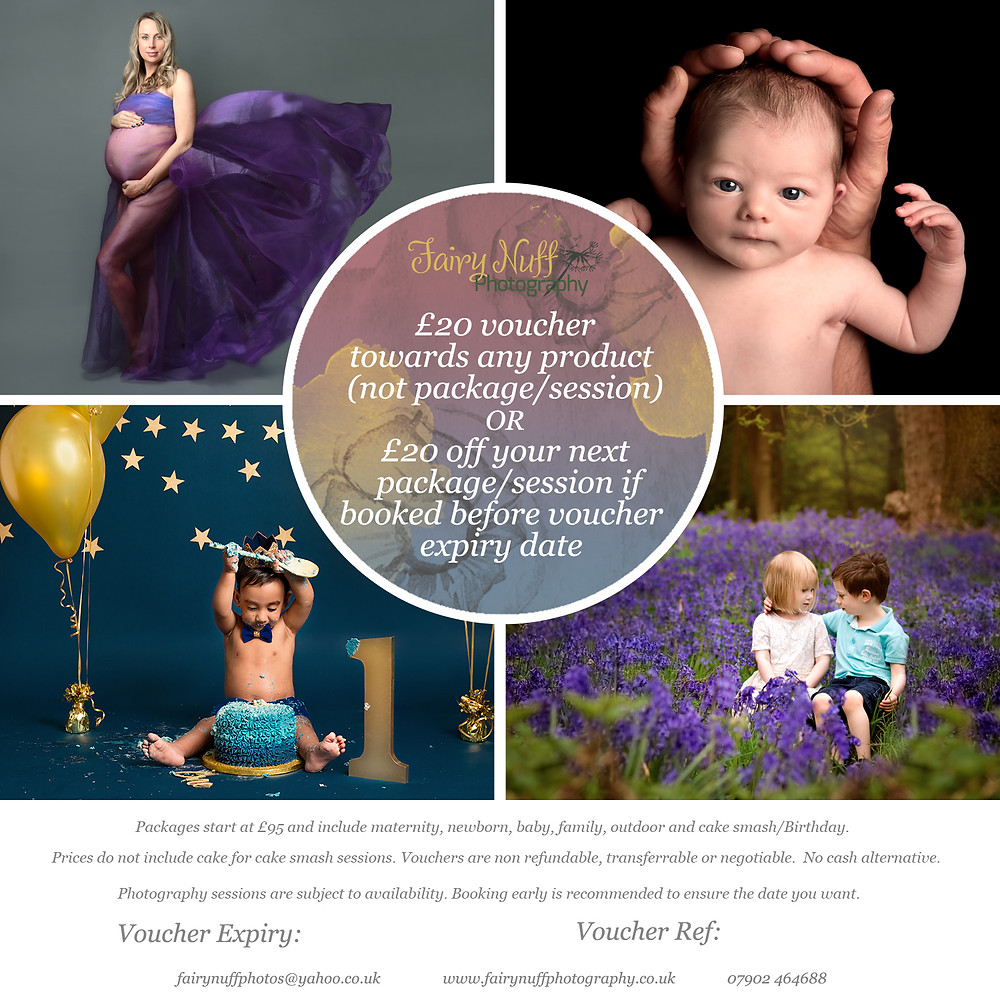Fairy Nuff Photography voucher for MamaBabyBliss clients