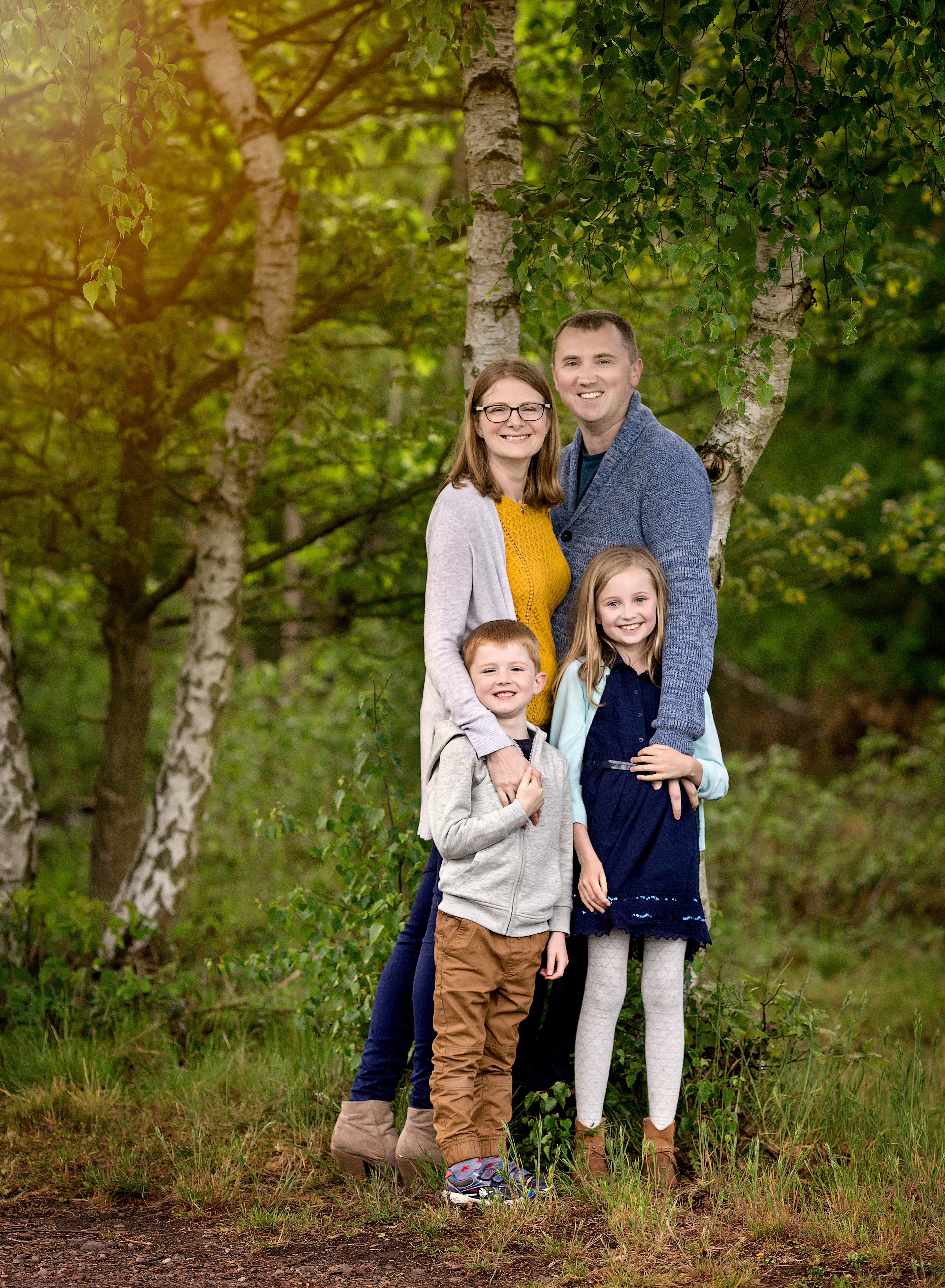 Outdoor family photography session