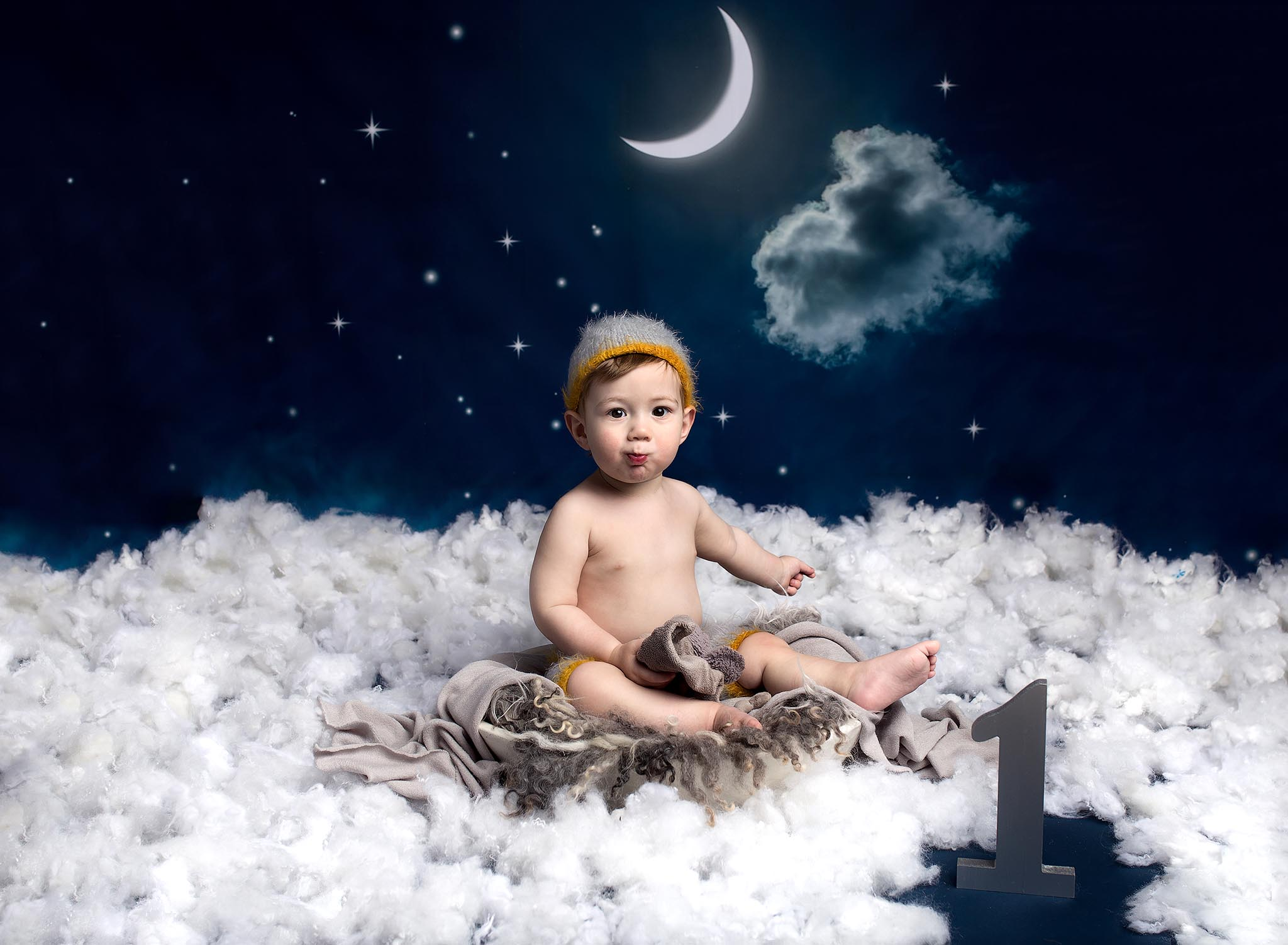 Baby portrait photography session