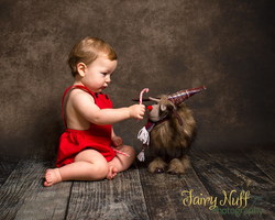 Cute Christmas themed child's photography