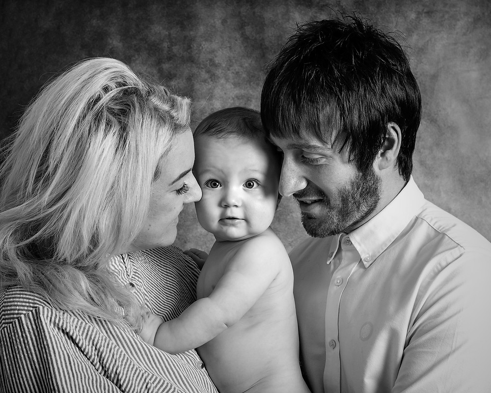 Parent and Baby photoshoot.  Fairy Nuff Photography.  Baby photography Hucknall