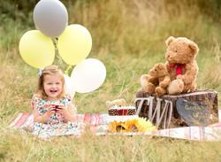 Outdoor cake smash Birthday photography