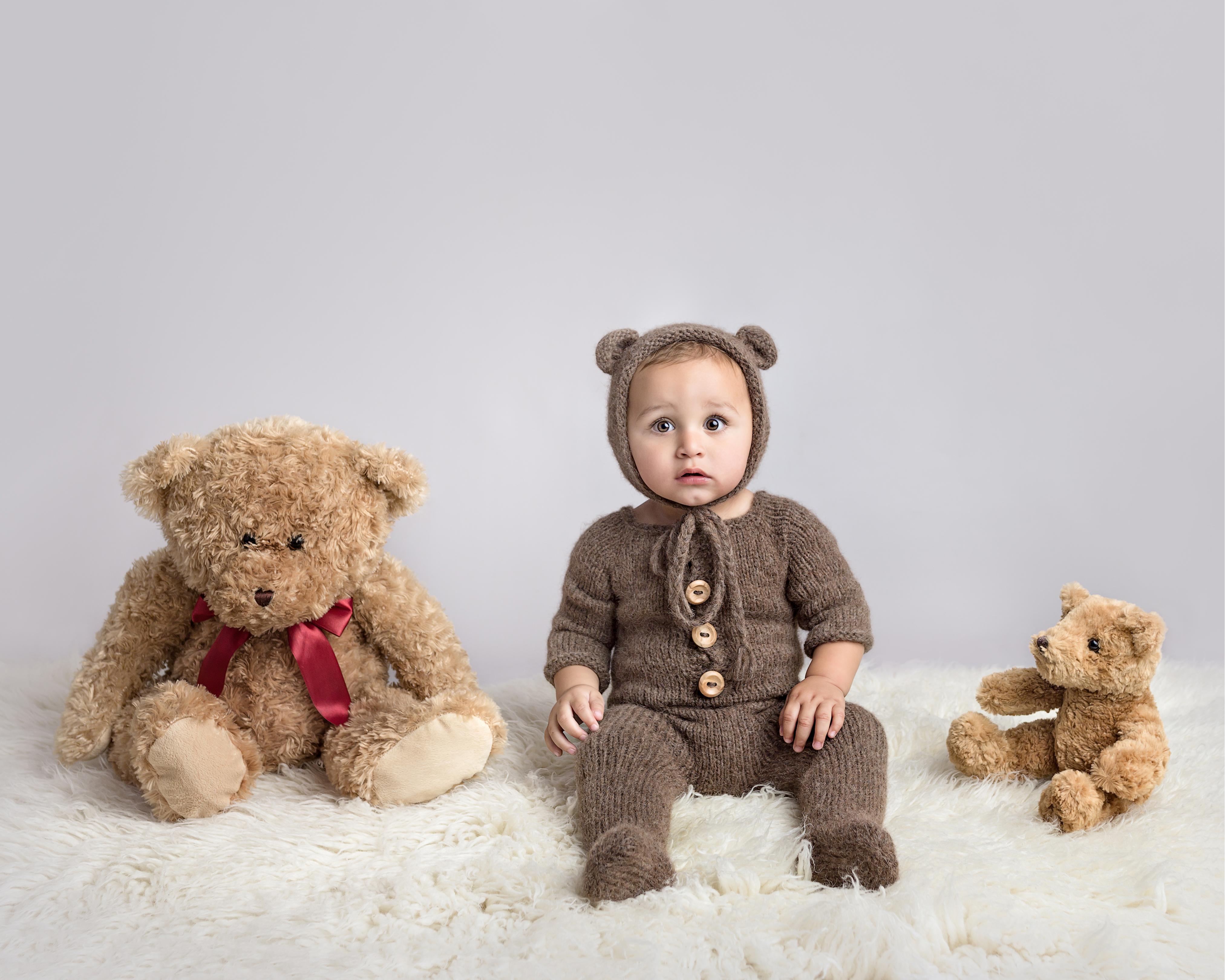 first birthday photos teddy bear