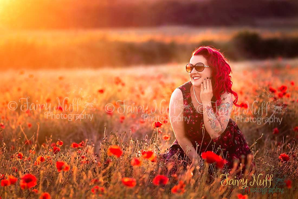 Poppy field photograph by Fairy Nuff Photography, Nottingham
