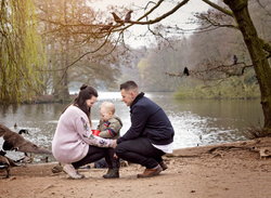 Feeding the ducks with Mum and Dad