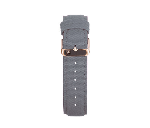 Space Grey Canvas Strap - Gold Buckle