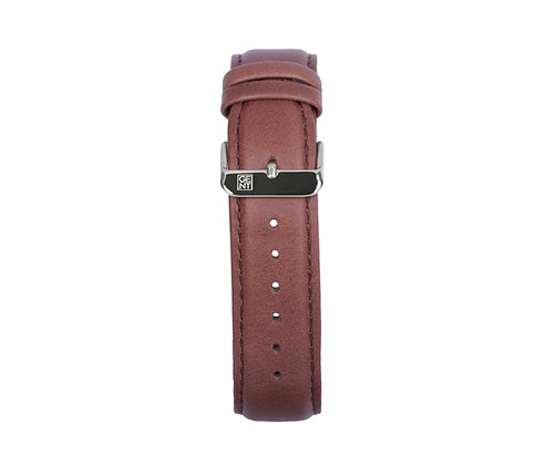 Brown Genuine Leather Strap - Silver Buckle