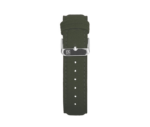 Olive Green Canvas Strap - Silver Buckle