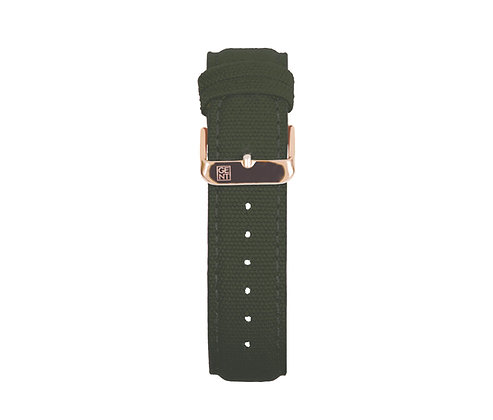 Olive Green Canvas Strap - Gold Buckle