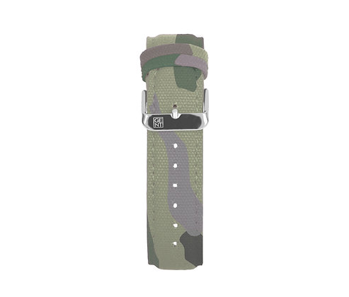 Camo Canvas Strap - Silver Buckle