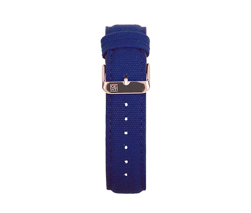Navy Canvas Strap - Gold Buckle