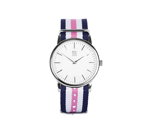 Athos I - Pink, White and Blue Nylon
