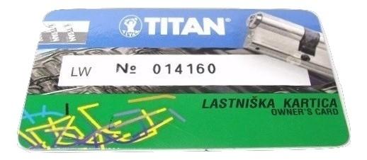 Titan K6 zárbetét