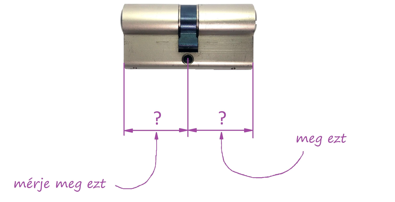 cilinderzár zárbetét méret