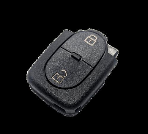 Audi A2 / A3 / A4 / A6  bicskakulcs távirányító ház 2 gombbal CR2016