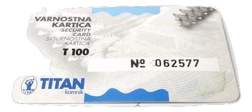 Titan T100 zárbetét