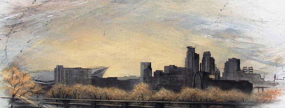 "Minneapolis Skyline Print 24"" X 30"""