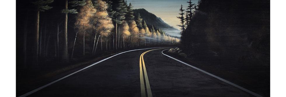 """Fall Road Print 32"""" X 15"""""""