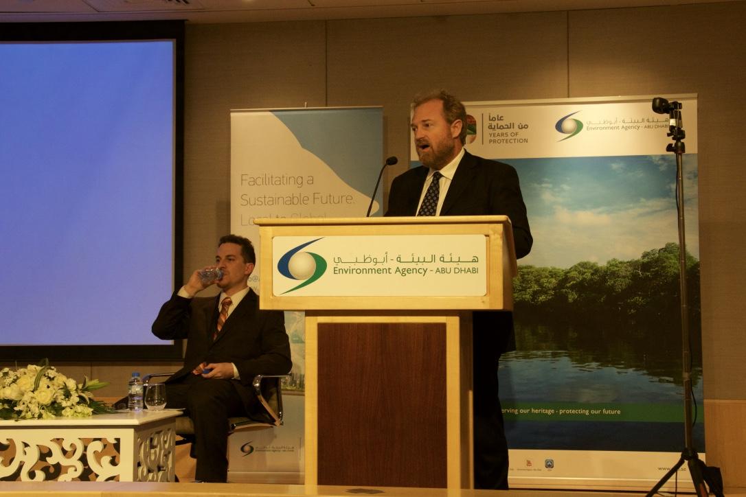 Simon Wilson at podium
