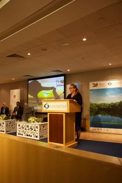 Jane Glavan at podium