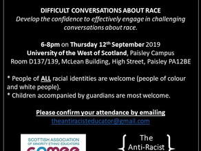 Difficult Conversations about Race - Save the Date!