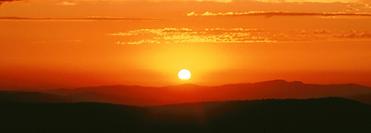 Beautiful Serengeti sunset.