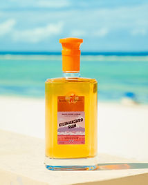 Kilimanjaro rum on the beach.