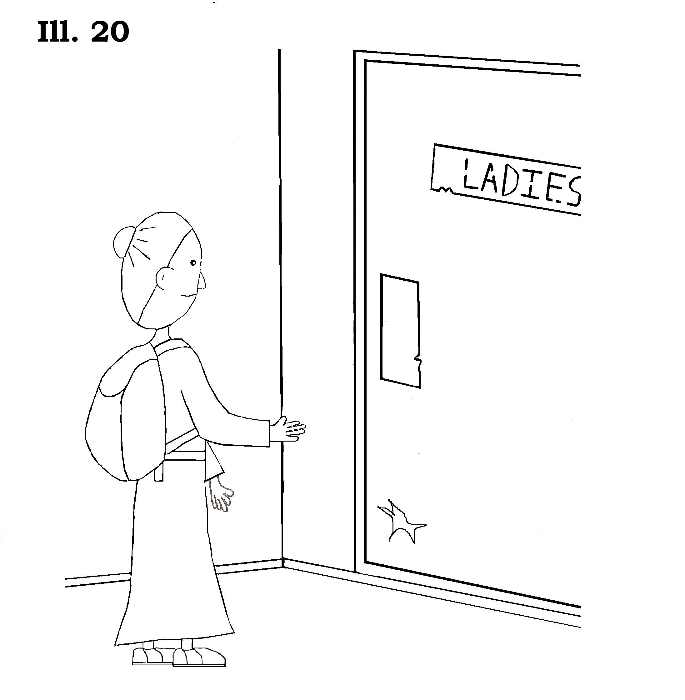 #20 Bathroom Door Drawing 3
