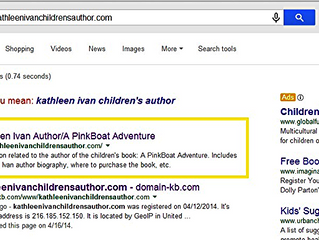 My Website now comes up in Google search bar