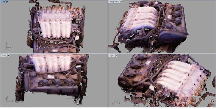 Mitsubishi FTO Mivec engine 3D