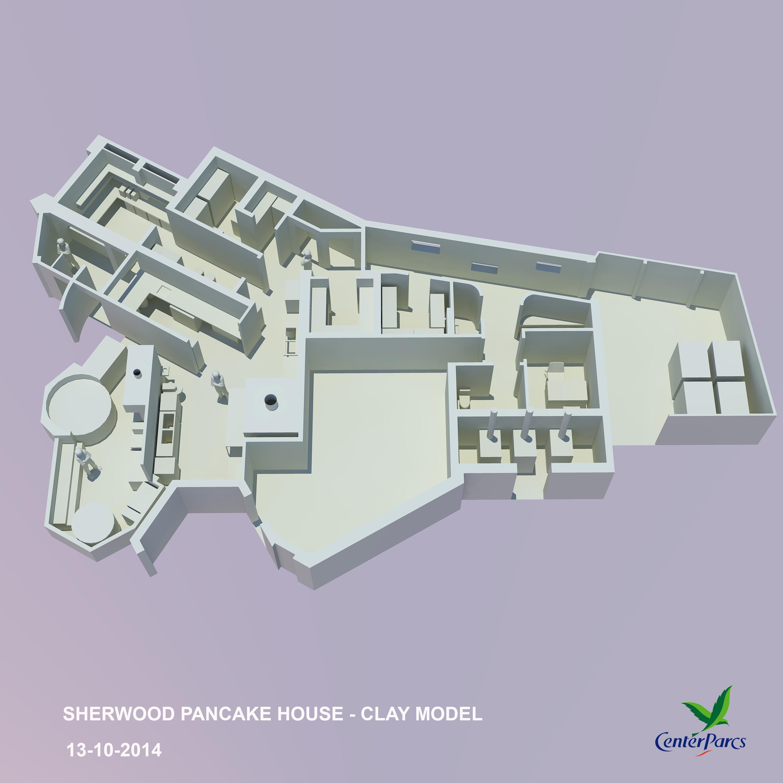 pancake house 3d AXO-CLAY- 30092014