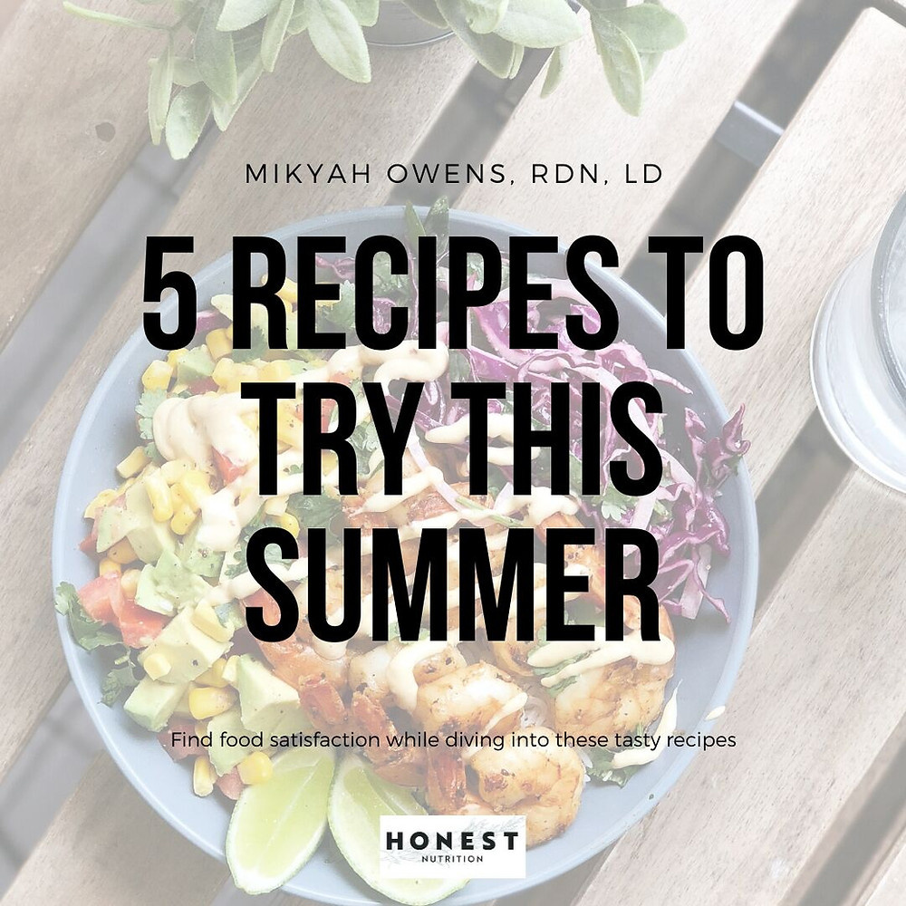 intuitive eating, healthy recipes, summer eating,