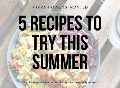 5 recipes to try       this summer
