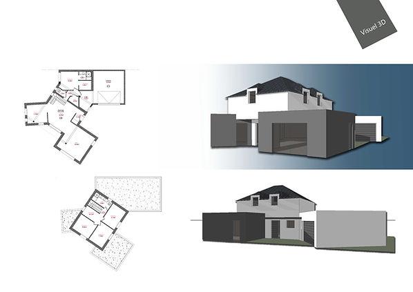 Maison neuve toiture 4 pents