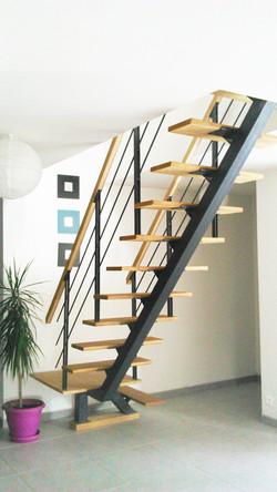 Escalier central sans contremarche