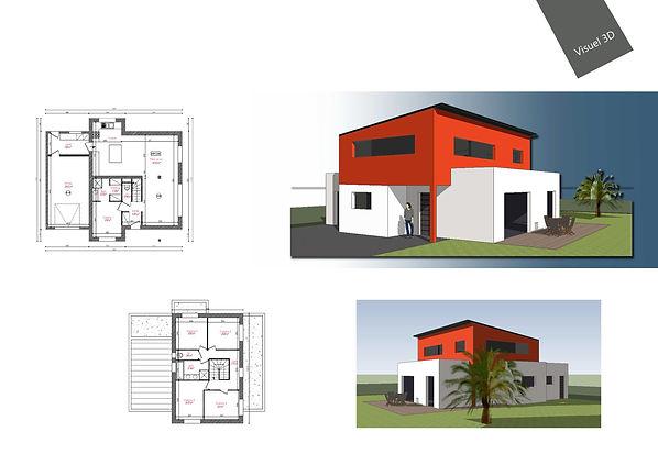 Maison neuve mono-pente toit plat