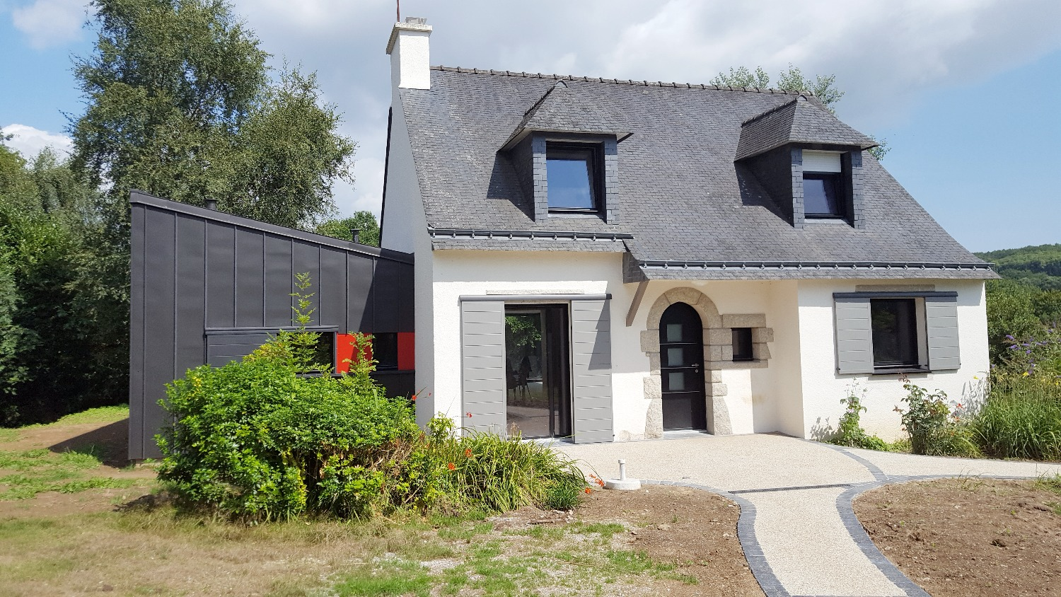 Rénovation extension zinc maison