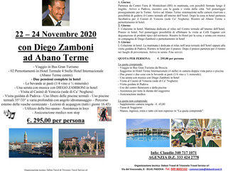 MINI TOUR DAL 22 AL 24 NOVEMBRE TERME DI ABANO