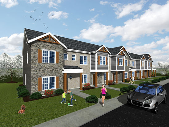 Romero Townhomes Rendering Final w Peopl