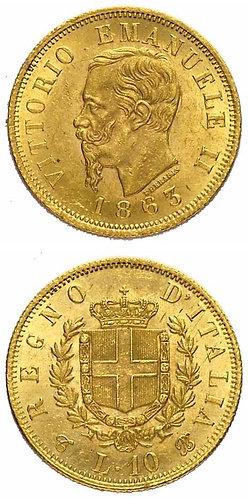 10 Lire 1863