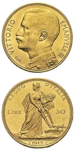 50 Lire 1912 Aratrice
