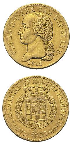 20 Lire 1818 Torino