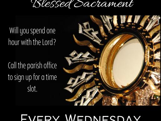 All Day Adoration Wednesdays